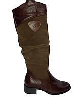 Сапоги зимние женские кожаные на каблуке Gama 251