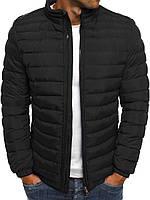 Цветная мужская зимняя стёганая куртка без капюшона №4