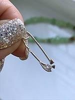 Булавка серебряная 3103 белая
