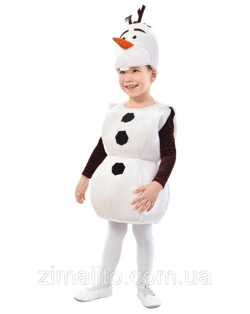 Снеговик Олаф карнавальный костюм детский