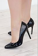 Туфли женские на шпильке в 4х цветах 1731/1 лак