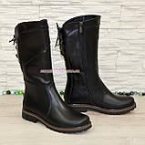 Женские ботинки кожаные на меху от производителя, фото 2