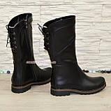 Женские ботинки кожаные на меху от производителя, фото 3