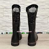 Женские ботинки кожаные на меху от производителя, фото 4