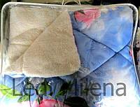 Зимнее двухстороннее шерстяное одеяло евро размер