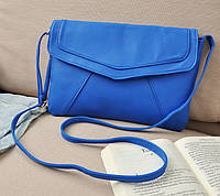 Маленькая сумка через плече на плече синяя/голубая