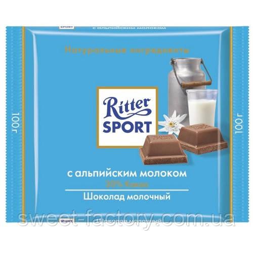 Шоколад Ritter Sport молочный 30% какао