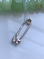 Булавка серебряная 3103 розовая