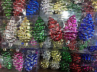 Игрушки новогодние кедровые шишки 6 шт 6 цв