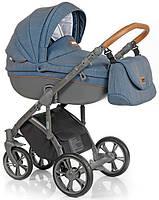 Детская коляска универсальная 2в1 Roan Bass Soft Chevron Blue (Роан Басс, Польша)