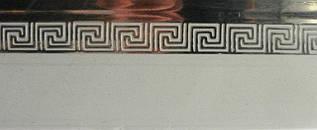 Декоративная накладка ОМ меандр серебро