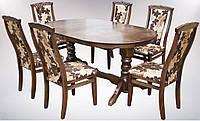 Комплект стол и стулья Меридиан раскладной Орех