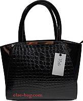 Черная лаковая женская сумка, фото 1