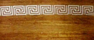 Декоративная накладка ОМ меандр античное золото