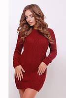 Платье туника вязаное 143 (9 цветов), вязанное платье, теплое платье, дропшиппинг поставщик