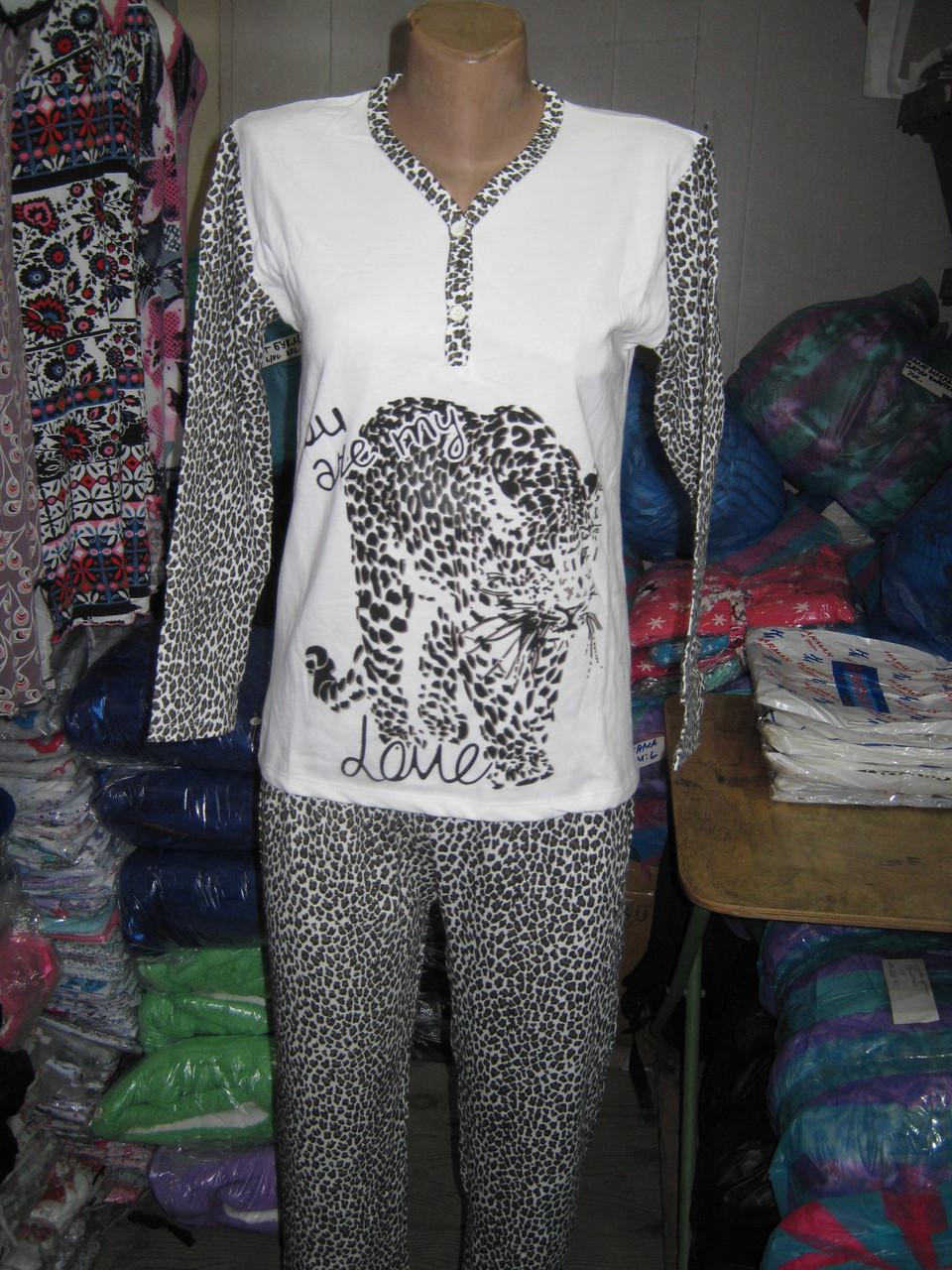 Пижама женская на байке Blue Night Леопард  продажа 658c8fe38e941