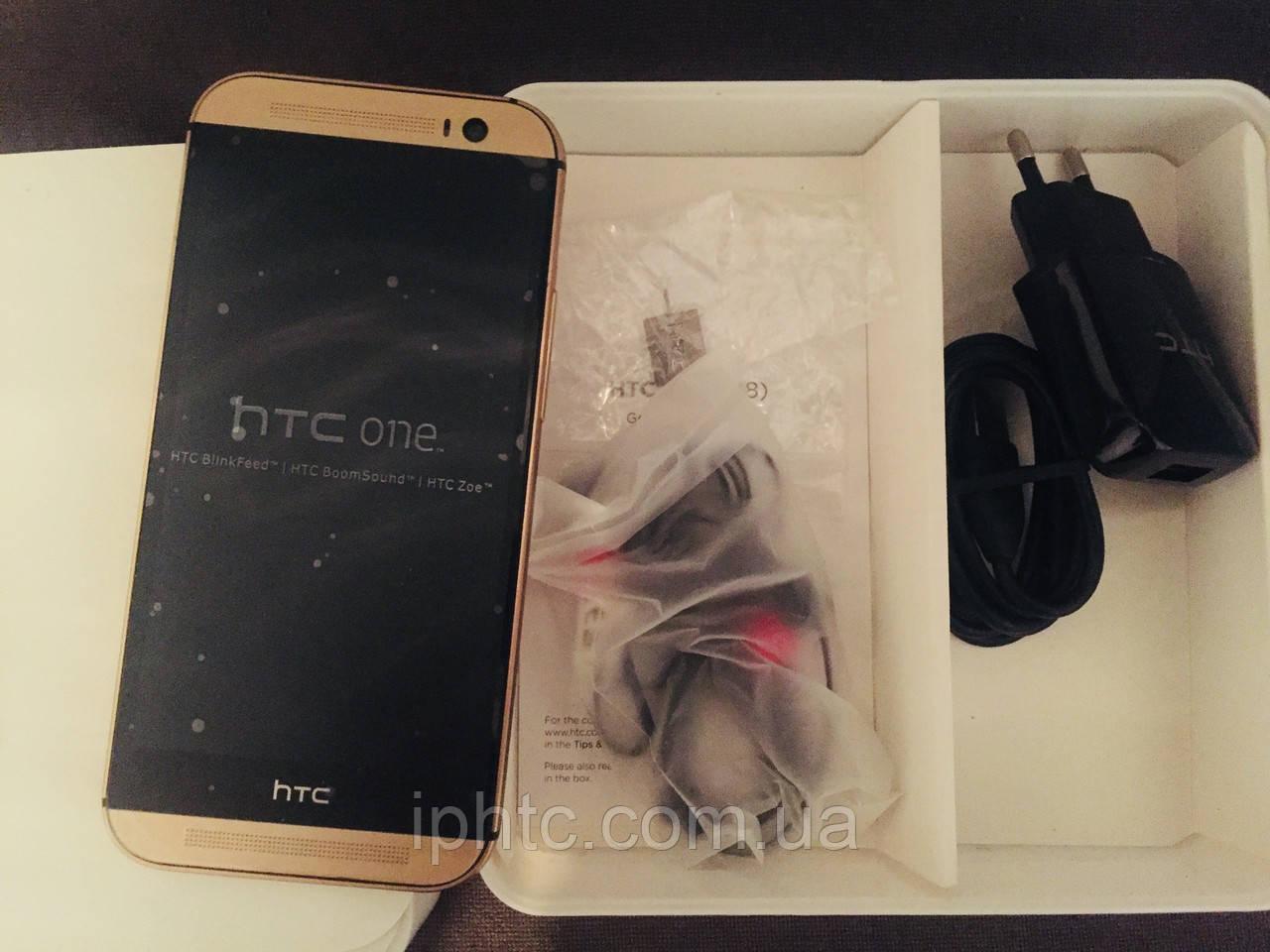 HTC One M8 16GB Gold.4G EU. Новый. В наличии., фото 1