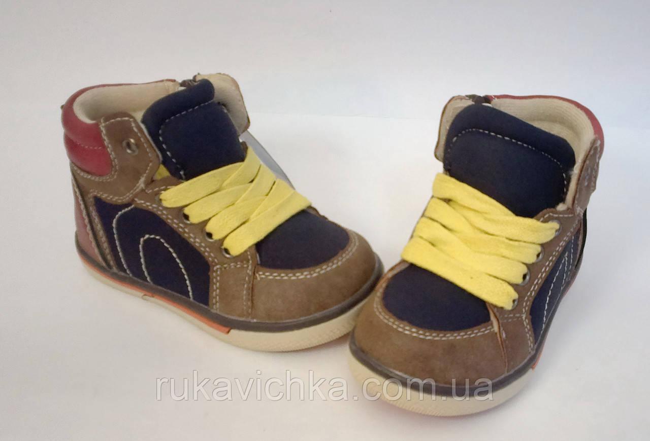 8e195aa0a ... фото · Очень красивые демисезонные ботинки для мальчика бренда Солнце р.
