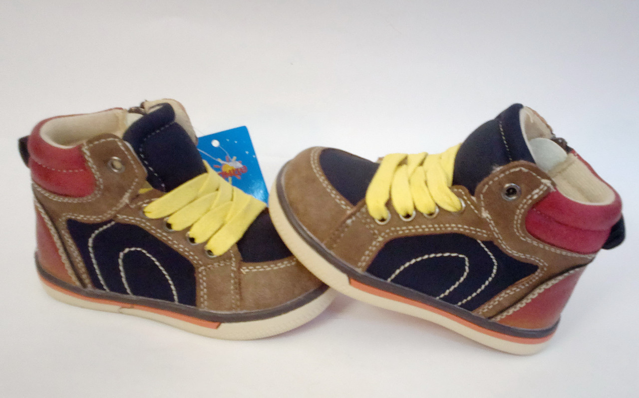 8931df2dd Очень красивые демисезонные ботинки для мальчика бренда Солнце р. 21 ...