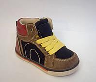 Очень красивые демисезонные ботинки для мальчика бренда Солнце р. 21-26