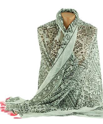 Стильная женская шаль, Trаum 2494-80, полиэстер, хлопок,180х90 см, цвет белый.