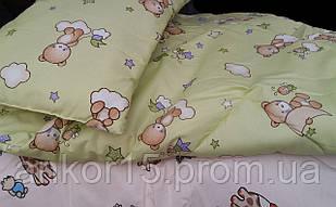 Одеяло + подушка комплект Детский. Разные цвета.