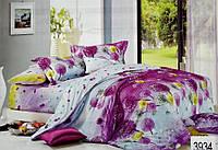 Сатиновое постельное белье полуторка ELWAY 3934