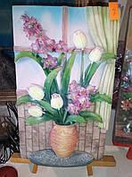 """Картины 3D с подставкой """"букет цветов"""""""