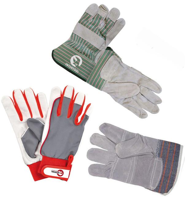 Перчатки рабочие кожаные и замшевые
