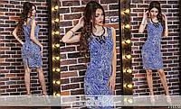 Платье с узором в расцветках 23161, фото 1