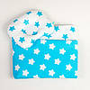 Комплект в детскую коляску летний BabySoon Бирюзовые звездочки одеяло 65 х 75 см подушка 22 х26 см (083)