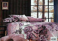Сатиновое постельное белье евро ELWAY 4036