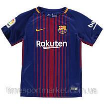 Футбольная форма Барселона 2017-2018 (домашняя детская Месси) -оригинальное качество, фото 3