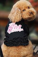 Футболка-платье для собак Добаз, Dobaz Bubble черный