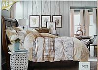 Сатиновое постельное белье евро ELWAY 5025