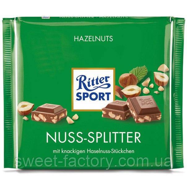 Шоколад Ritter Sport Nuss-Splitter молочный с орехами