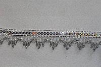 Тасьма декоративна люрекс срібло 6135, фото 1