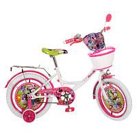 Велосипед детский  16 дюймов. Артикул  MI166W. Дизайн Disney.Гарантия качества. Быстрая доставка.