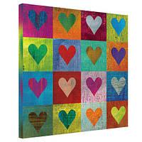 """Картина на холсте """"Love"""" 50x50 (10 фото)"""