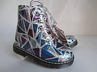 Лаковые ботиночки на шнуровке девочке  24-15 см