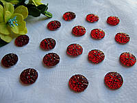 Полубусины - Цветочек цвет красный -  р-р 16 мм цена 1 грн - 1 шт, фото 1