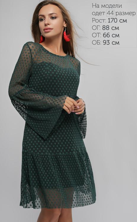 Вечернее женское платье с сеткой (2 цвета)