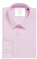 Рубашка мужская розовая Slim с длинным рукавом