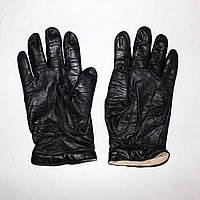 Женские кожаные перчатки с теплой подкладкой