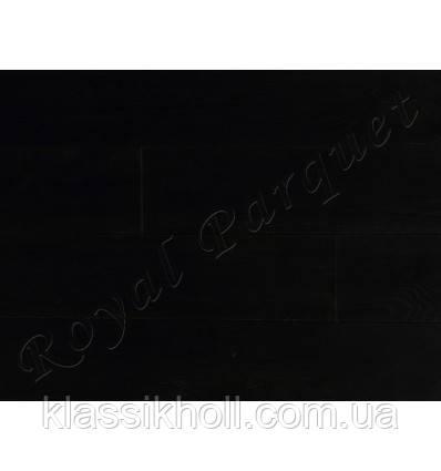 Массивная доска Royal Parquet Дуб Рустик, браш, LOBA Чёрный-2
