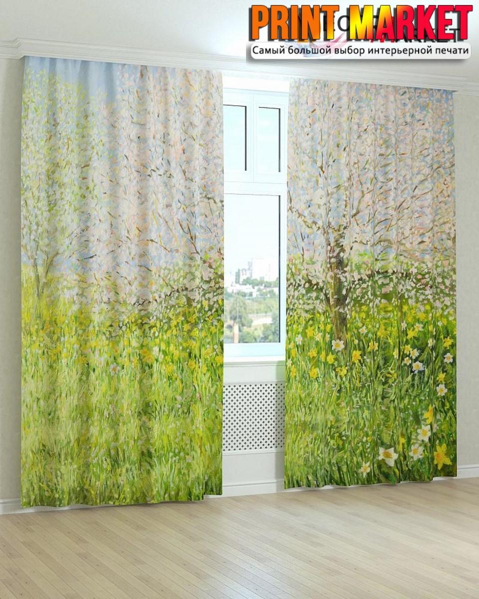 Фотошторы цветы и деревья