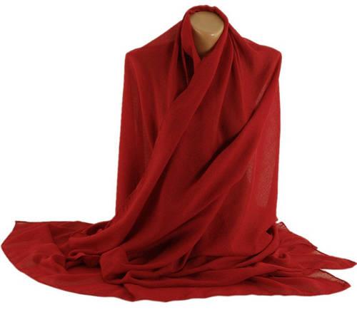 Шикарная женская шаль, Trаum 2494-92, хлопок, 180х135 см, цвет красный.