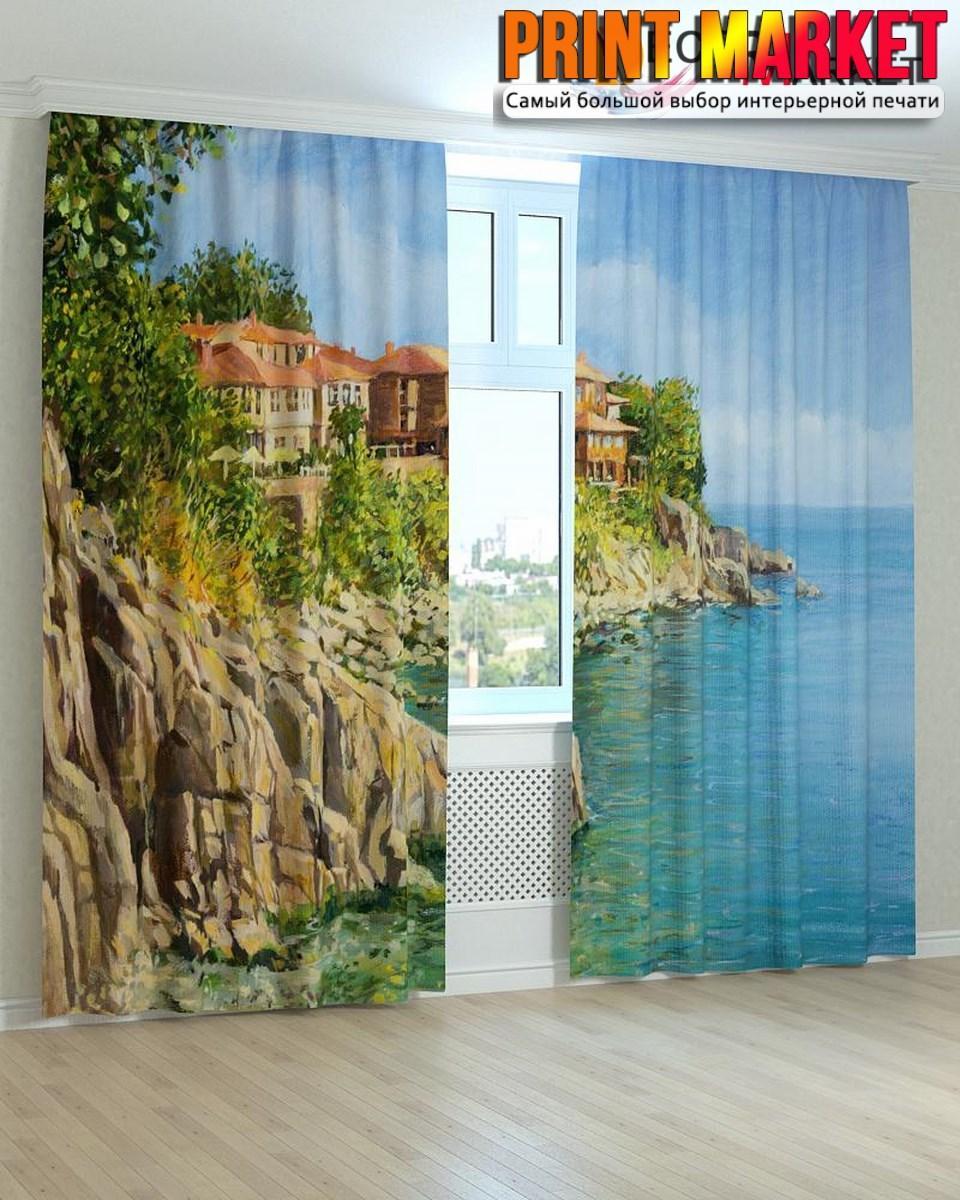 Фотошторы дома у моря