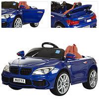 Детский электромобиль БМВ 7 серии M 2773 EBLR-4, кожаное сиденье и мягкие колеса