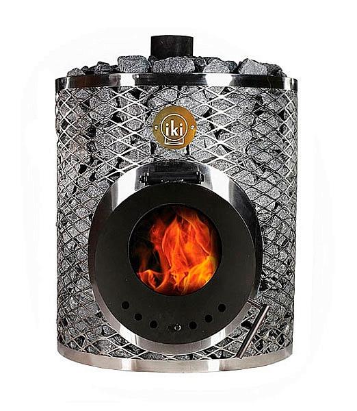 Дровяная печь для бани и сауны IKI Marine со стеклянной дверкой